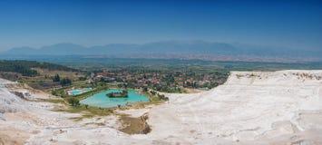 Panoramic view of Pammukale Royalty Free Stock Photo