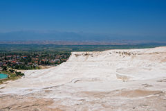 Panoramic view of Pammukale Royalty Free Stock Photos