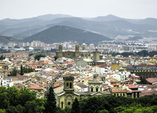 Panoramic view of Pamplona on the background of mountains. Navarre, Spain Royalty Free Stock Photo