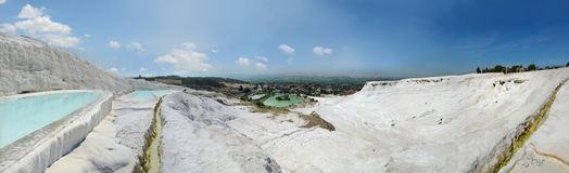 Panoramic view in Pamukkale Royalty Free Stock Photo