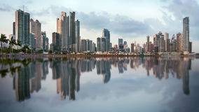 Panoramic view of Panama City skyline royalty free stock photography