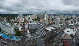 Panoramic view of Panama City Skyline Stock Photos