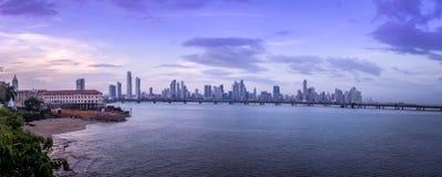 Panoramic view of Panama City Skyline - Panama City, Panama Stock Photos