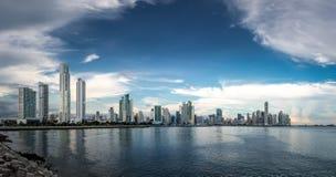 Panoramic view of Panama City Skyline - Panama City, Panama Stock Photo