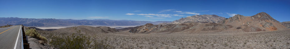 Panoramic view on Panamint Springs Royalty Free Stock Images