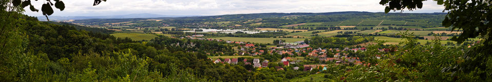Panoramic View Pannonhalma Royalty Free Stock Images