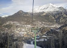 Panoramic view of Panticosa Spain. Panoramic view of Panticosa from chairlift Royalty Free Stock Photos