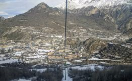 Panoramic view of Panticosa Spain. Panoramic view of Panticosa from chairlift Royalty Free Stock Photo