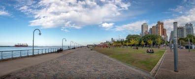 Panoramic view of Parana River Promenade - Rosario, Santa Fe, Argentina. Rosario, Argentina - May 18, 2018: Panoramic view of Parana River Promenade - Rosario Stock Image
