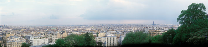 Panoramic view of Paris. Royalty Free Stock Photography