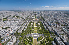 Panoramic view of Paris Stock Images
