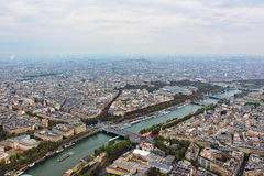 Panoramic view on paris city Stock Image