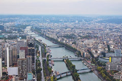 Panoramic view on paris city Royalty Free Stock Photos