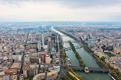 Panoramic view on paris city Stock Images