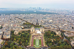 Panoramic view on paris city Stock Photos