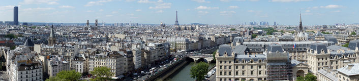 Panoramic view of Paris Royalty Free Stock Photo