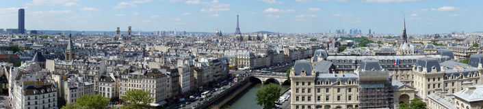 Panoramic view of Paris with the Eiffel Tower Stock Photo