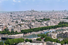 Panoramic View of Paris from EiffelTower, France. Royalty Free Stock Photo