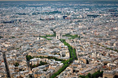 Panoramic view of Paris, France Royalty Free Stock Images
