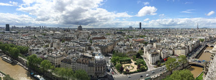 Panoramic view of Paris Royalty Free Stock Photography