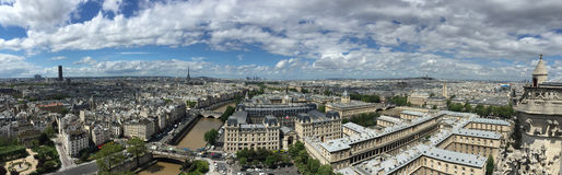Panoramic view of Paris Royalty Free Stock Photos