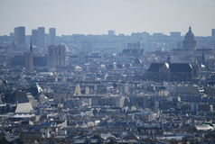 A panoramic view on Paris, France stock photo