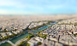 Panoramic view of Paris, France. Miniature Royalty Free Stock Photos