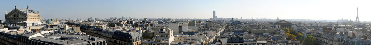 Panoramic view of Paris in high definition -France Stock Photography