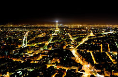 Panoramic view of Paris from the Monparnas tower Stock Photos