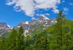 Panoramic view at Pasterze Glacier Grossglockner royalty free stock images