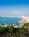 Panoramic view of Pattaya Royalty Free Stock Photos