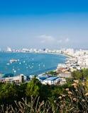 Panoramic view of Pattaya Royalty Free Stock Photos