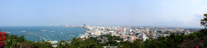 Panoramic view of Pattaya. In Thailand Stock Photo