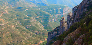 Panoramic view from the peak of a mountain, Spain Royalty Free Stock Image