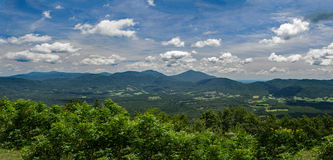 Panoramic View of the Peaks of Otter Royalty Free Stock Photography