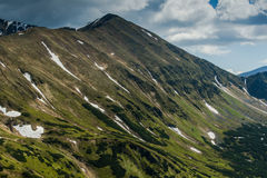 Panoramic view on peaks in Tatra Mountains Stock Image