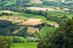 Panoramic view of Pellegrino Parmense. Emilia-Romagna. Italy. Stock Images