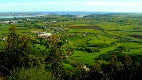 Panoramic view from Pena Cabarga. (Santander, Spain Royalty Free Stock Image