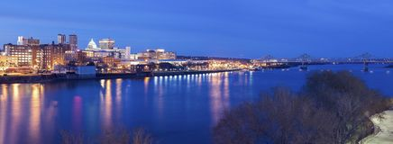 Panoramic view of Peoria royalty free stock photography