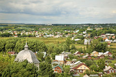 Panoramic view of Pereslavl-Zalessky. Yaroslavl Oblast. Russia.  Stock Photos
