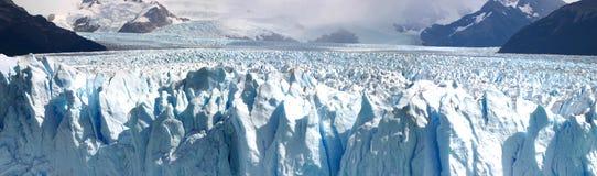 Panoramic view of the Perito Moreno Glacier in Patagania Royalty Free Stock Photos