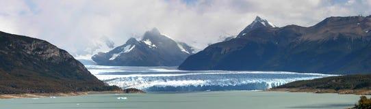 Panoramic view of the Perito Moreno Glacier in Patagania Royalty Free Stock Image