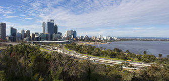 Panoramic view of Perth City , Western Australia from King's Park lookout. Stock Photo