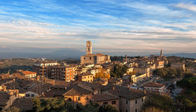 Panoramic view of Perugia - Italy Royalty Free Stock Image