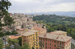 Panoramic view of Perugia. Umbria. Royalty Free Stock Photos