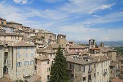 Panoramic view of Perugia. Umbria. Stock Image
