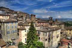 Panoramic view of Perugia. Umbria. Stock Photos