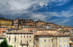 Panoramic view of Perugia. Umbria. Stock Images