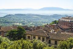 Perugia (Umbria) at morning Stock Photos