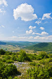 Panoramic view of Pešter plateau landscape Royalty Free Stock Image